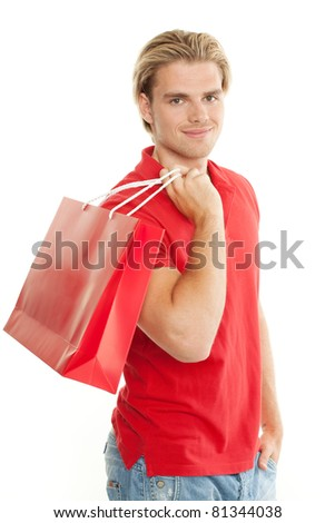 shopping mann - stock photo