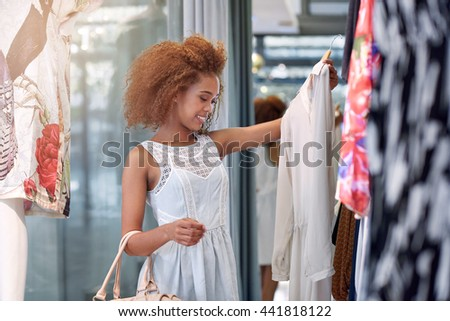 Shopping off the rack - stock photo