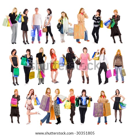 Shopping people - stock photo