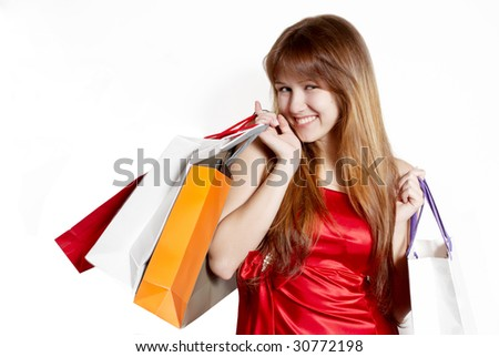 Shopping pretty girl - stock photo