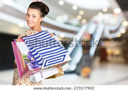 Shopping, Retail, Clothing. - stock photo