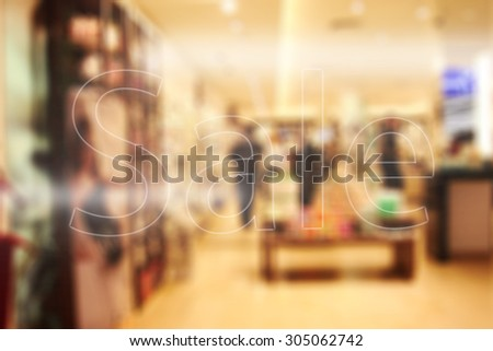 shopping time and sale  - stock photo