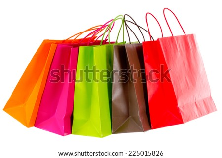 Shopping tour brightened - stock photo