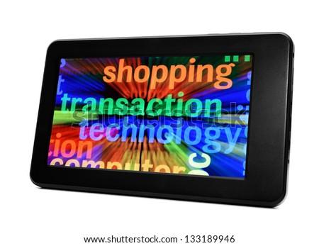 Shopping transaction technology - stock photo