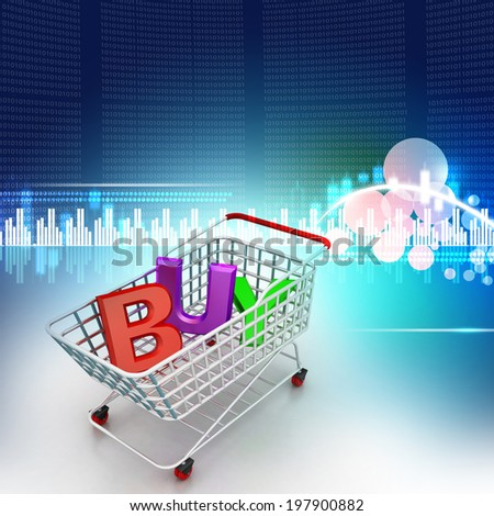 Shopping trolley - stock photo