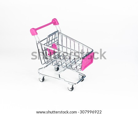 Shopping trolley. - stock photo