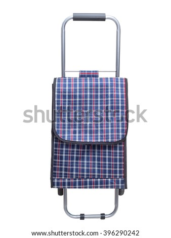 Shopping trolley bag, isolated on a white background. Front view. - stock photo