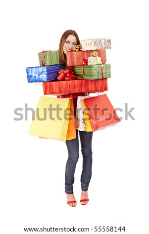 Shopping woman. - stock photo