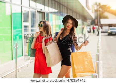 shopping woman fashion