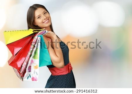 Shopping, Women, Fashion. - stock photo