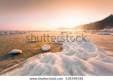 shore in the ice
