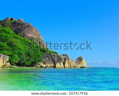 Shore Jungle Landscape - stock photo
