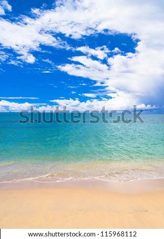 Shore Landscape Windy Holiday - stock photo