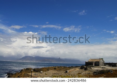 Shore of Robben Island - Cape Town - South Africa - stock photo
