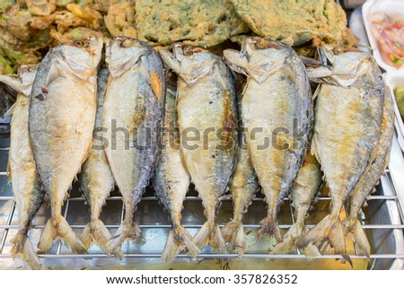 Short-bodied mackerel has omega-3 which good for nerve system. - stock photo