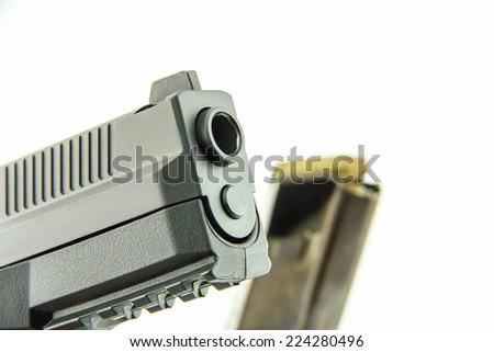 short gun on white background  - stock photo