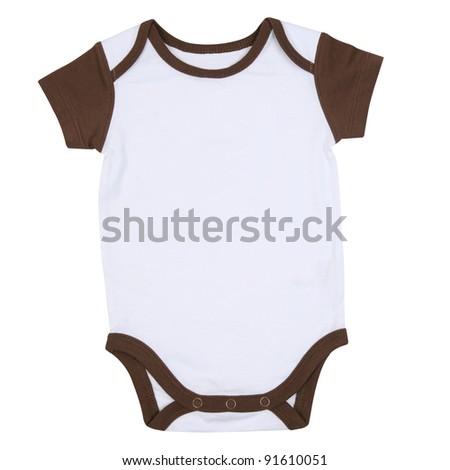 Short Sleeve Baby Sport Onesie Ringer Tshirt - stock photo