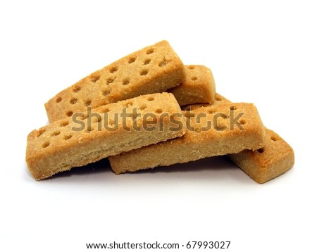 Shortbread Fingers - stock photo