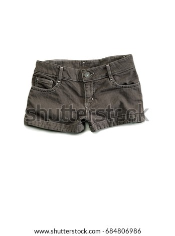 Shorts for lady for warmth on white background