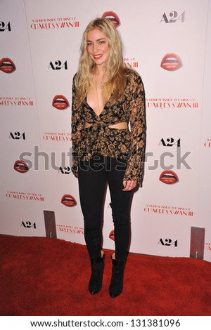 "Shoshana Bush at the Los Angeles premiere of  ""A Glimpse Inside the Mind of Charles Swan III"" at the Arclight Theatre, Hollywood. February 4, 2013  Los Angeles, CA Picture: Paul Smith"