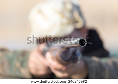 shot from a gun - stock photo