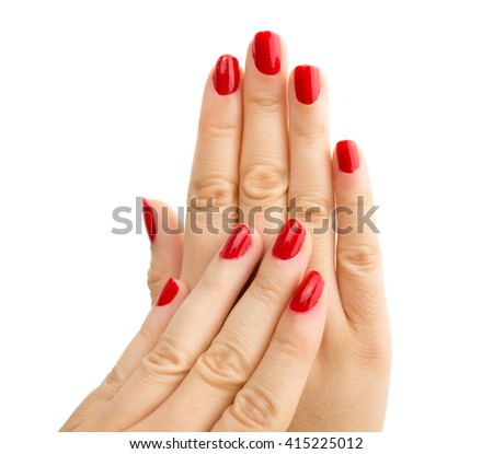Shot of a beautiful woman hands isolated on white background