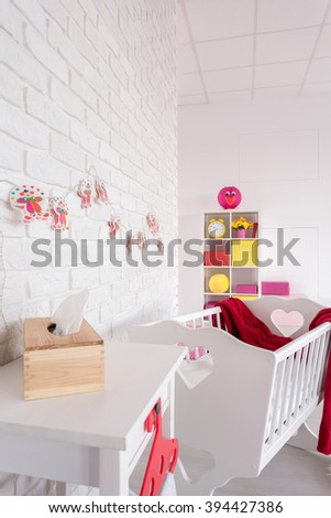 Shot of a cosy modern baby room
