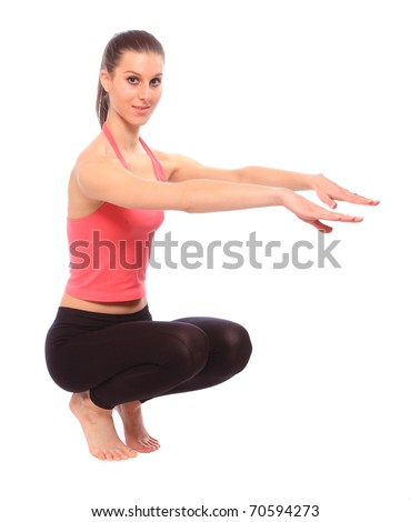 Shot of a exercising young woman. Active lifestyle.