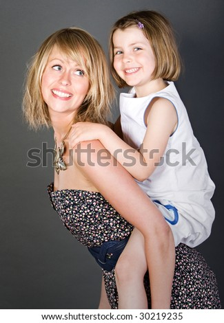 Shot of a Happy Mother and Daughter Together - stock photo