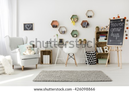 Shot of a modern children's room full of light - stock photo