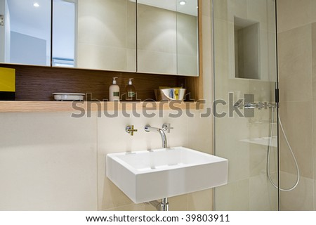 Shot of a Modern Contemporary Bathroom