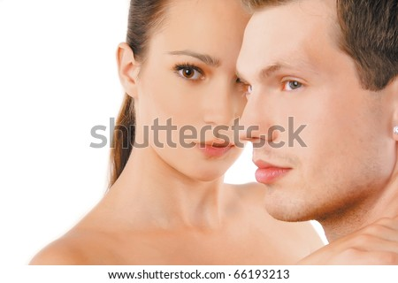 Shot of a passionate loving couple. - stock photo