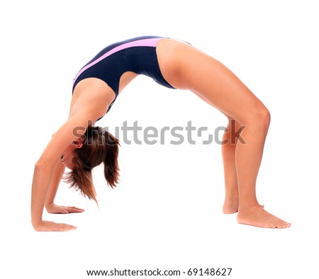 Shot of a sporty young woman. - stock photo