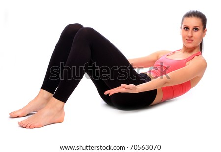 Shot of a sporty young woman on a white background.