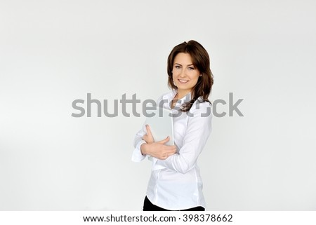 Shot of attractive modern business woman looking at the camera. - stock photo