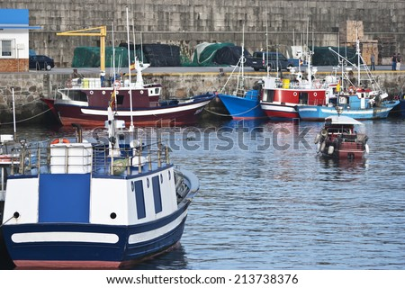 Shot of fishing port located Galicia (Spain) - stock photo