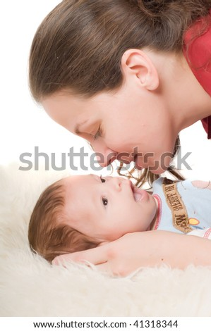 Shot of mother and her newborn baby