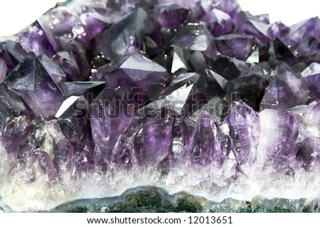 Shot of purple quartz stone - stock photo