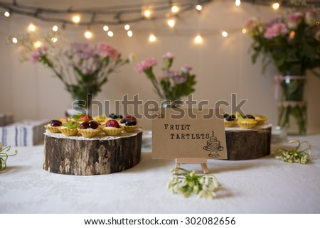 Shot of some Delicious Fruit Tartlets - stock photo