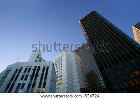 Shot of various city buildings in San Francisco