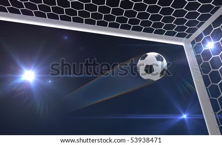 shot on goal - stock photo
