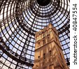 Shot tower at Melbourne Central - stock photo