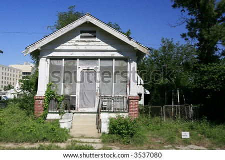 Shotgun style house in New Orleans