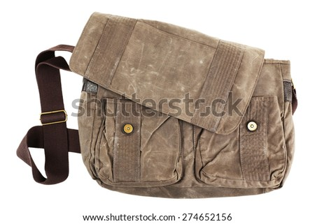 Shoulder bag isolated on white