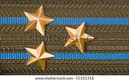 shoulder strap of russian army - stock photo