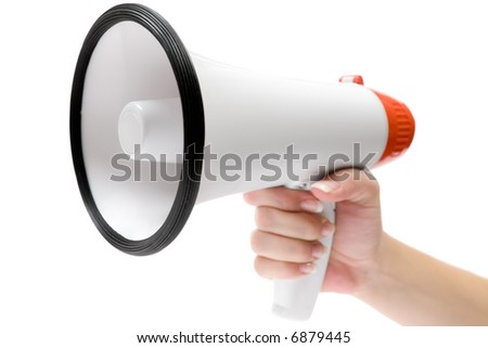 Shout It Out - stock photo
