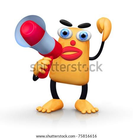Shouting - stock photo