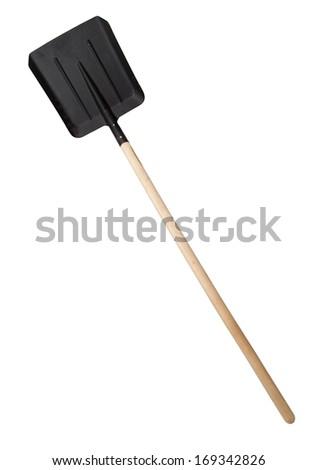 Shovel on white background - stock photo