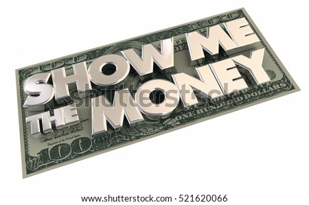 Show Me the Money Cash Income Contract 3d Illustration