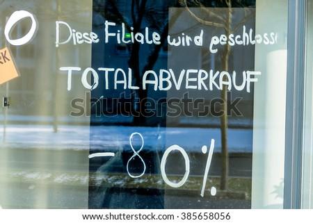 showcase total sales - stock photo
